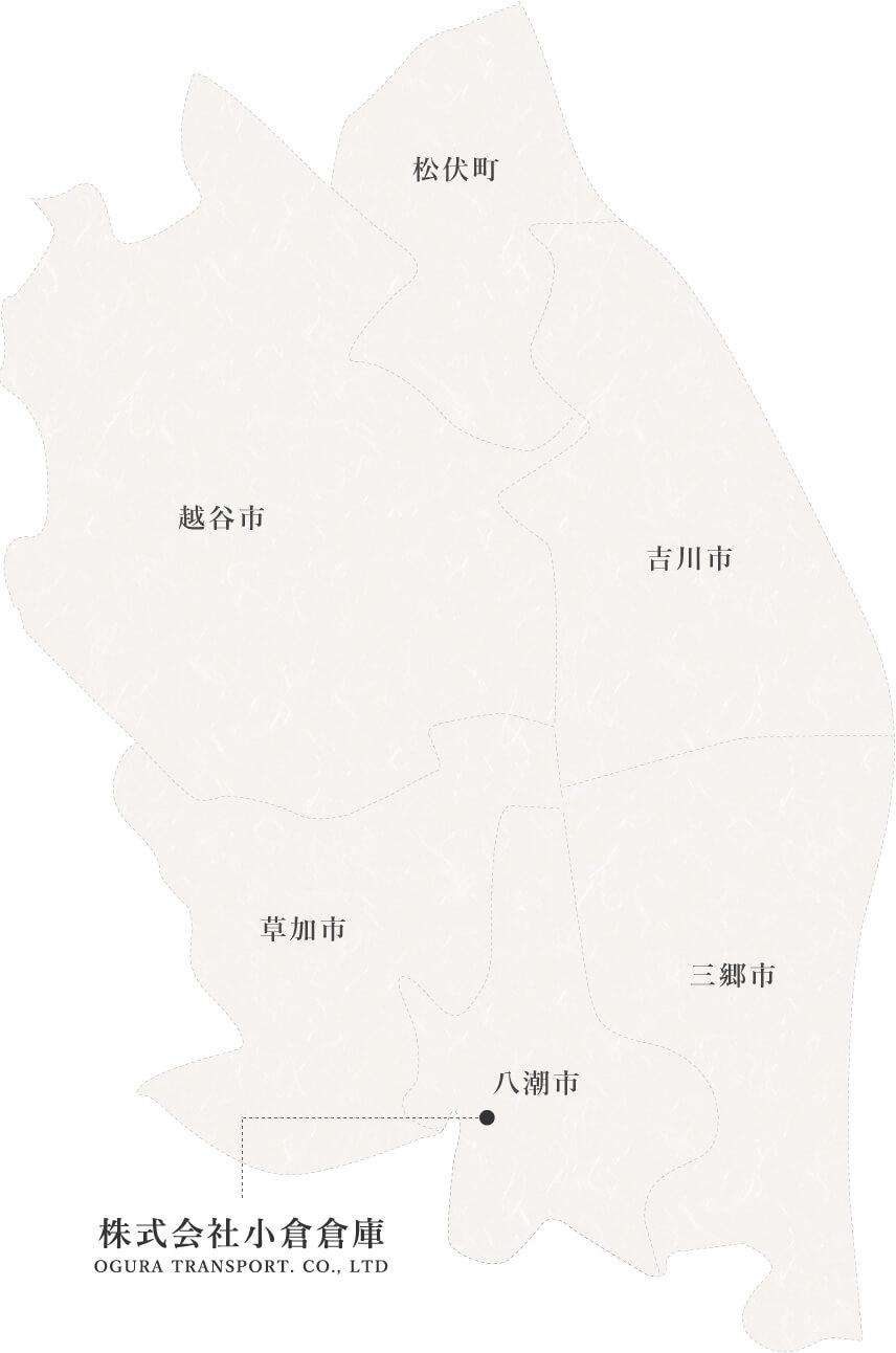 小倉倉庫、地図